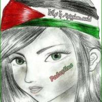 دٌق التَحيّة ..يَلي قُدآمك فَلسطينيّة دَمها مطبوعٌ عليه معآلم الكوفية ..والوآن العَلم عَ جبينهآ شآرة أبدية ♥
